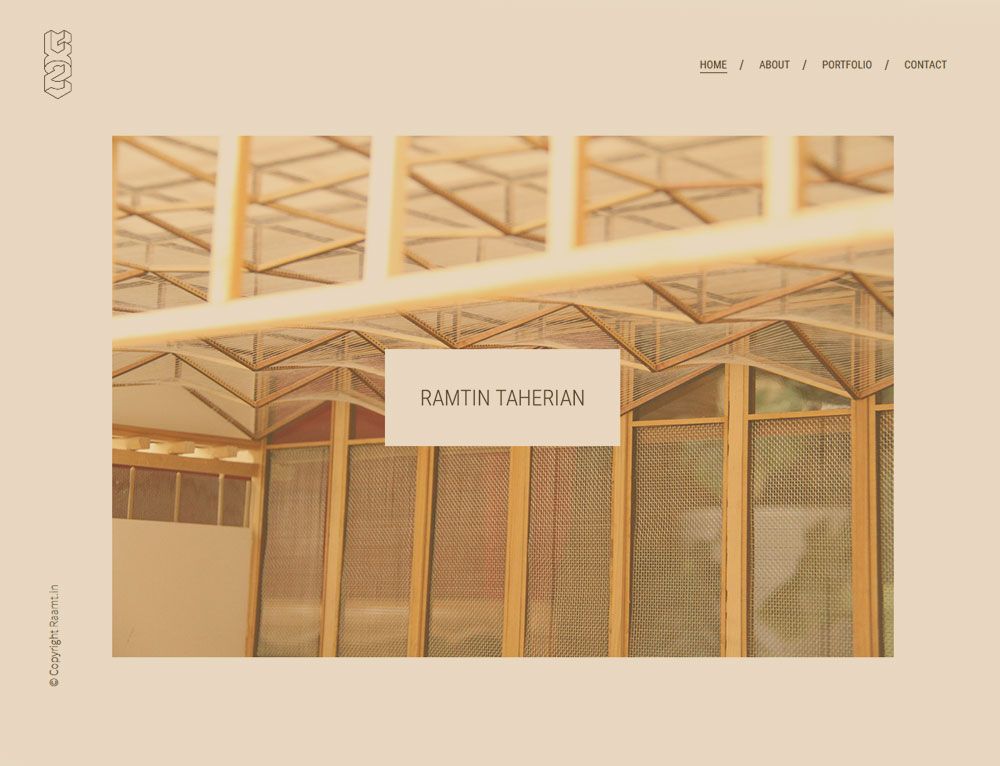WEBSITE FOR AN ARCHITECTURE