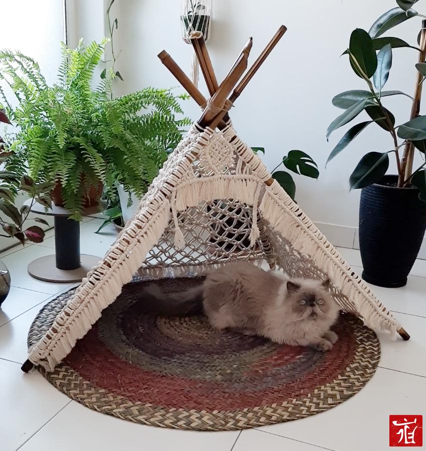 macrame tent by ladan.me